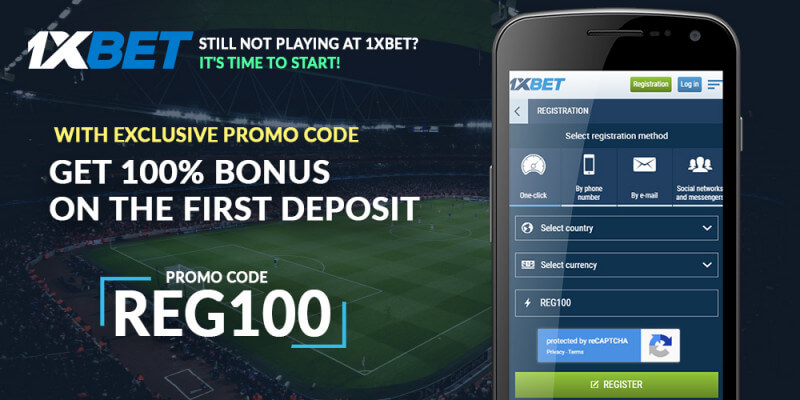 1xBet mobile registration bonus