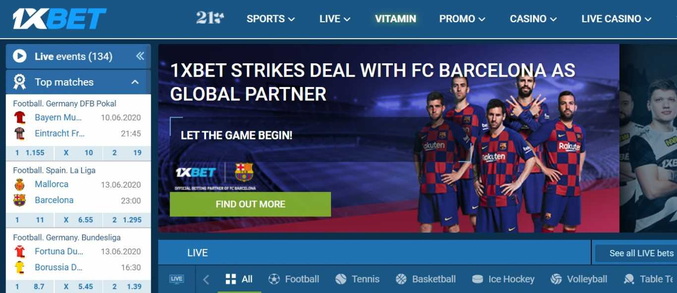 1xBet Gh sport betting specifics